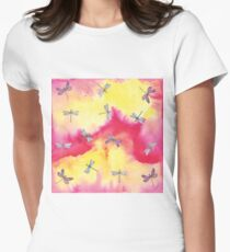 Fly away Dragonfly Women's Fitted T-Shirt
