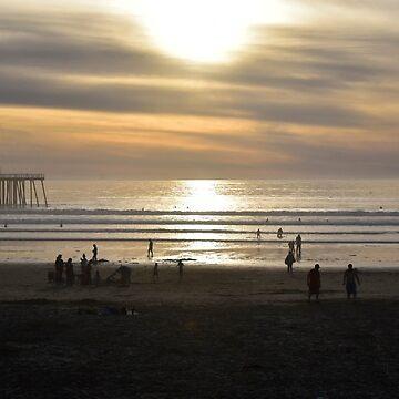 California Coast Sunset by davesdigis