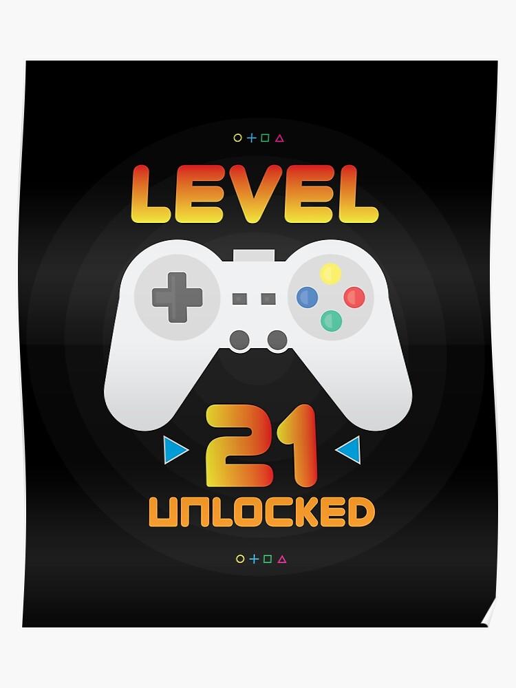 2f5cd11231 21st Birthday Gift - Level 21 Unlocked Funny Gamer Present