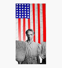 Red White Black And Blue Super Tall Photographic Print