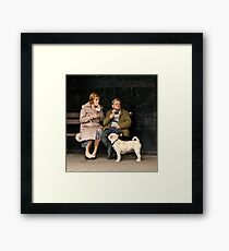 Candid at picnic in the park Framed Print