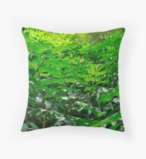 Green foliage Throw Pillow