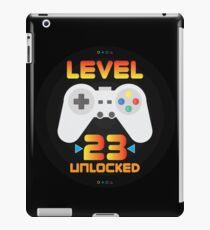 23rd Birthday Gift - Level 23 Unlocked Funny Gamer Present iPad Case/Skin