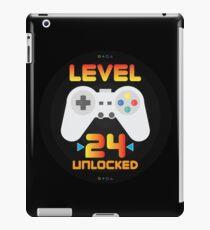 24th Birthday Gift - Level 24 Unlocked Funny Gamer Present iPad Case/Skin