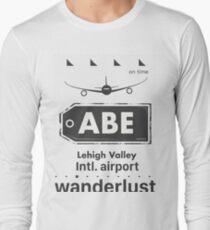 ABE Lehigh Valley airport code Long Sleeve T-Shirt