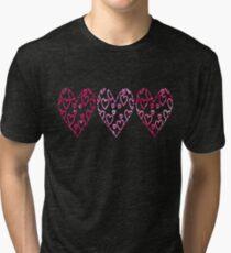 Trio of Hearts Tri-blend T-Shirt