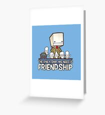 Friendship is the best ship Greeting Card