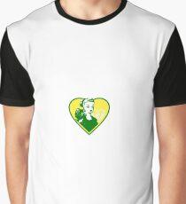 Beyond Rare Badge - Green & Gold Graphic T-Shirt