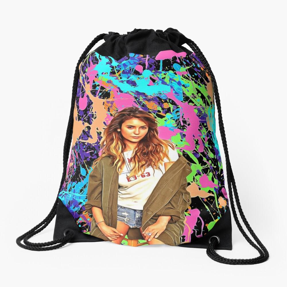 Nina Dobrev - Celebrity (Oil Paint Art) Drawstring Bag