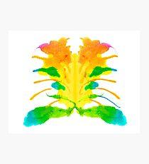 Tintenklecks Kreativ Rorschach Fotodruck