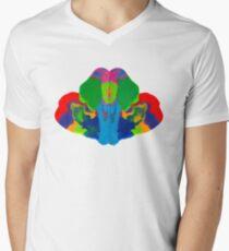 Rorschach Tintenklecks T-Shirt mit V-Ausschnitt für Männer