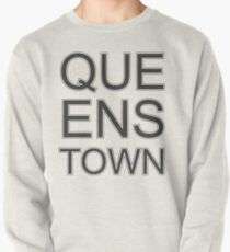 Queenstown Text in Black & White Pullover