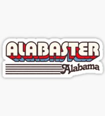 Alabaster, Alabama | Retro Streifen Sticker