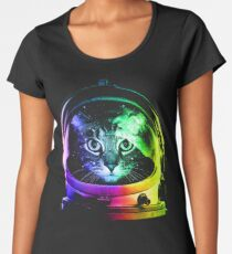 Astronaut Cat Women's Premium T-Shirt