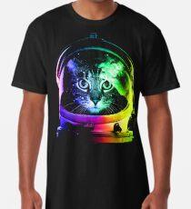 Astronaut Cat Long T-Shirt