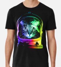 Camiseta premium para hombre Astronauta Cat