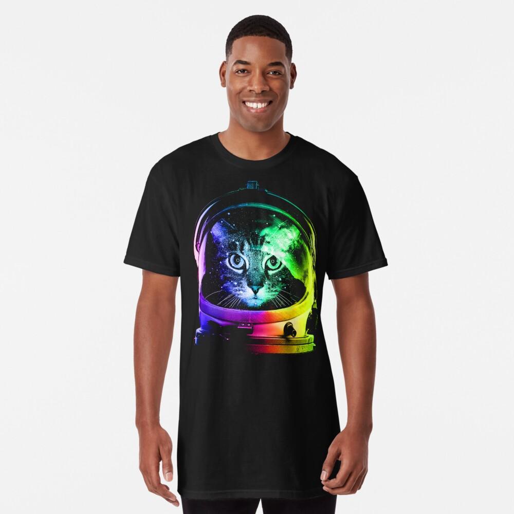 Camiseta largaAstronauta Cat Delante