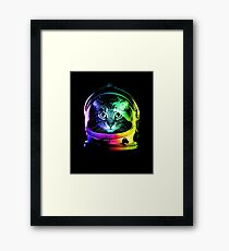 Lámina enmarcada Astronauta Cat