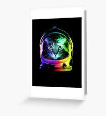 Astronaut Cat Greeting Card