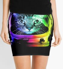 Astronaut Cat Mini Skirt