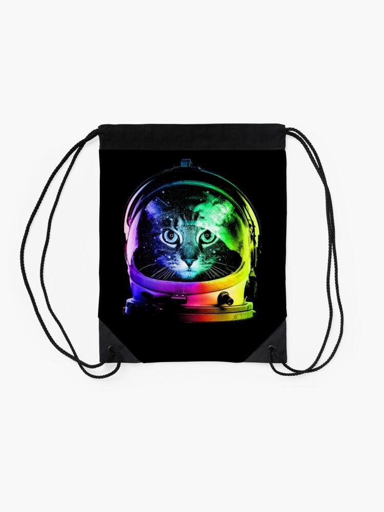 Alternate view of Astronaut Cat Drawstring Bag