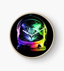 Astronaut Cat Clock