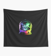 Astronaut Cat Wall Tapestry