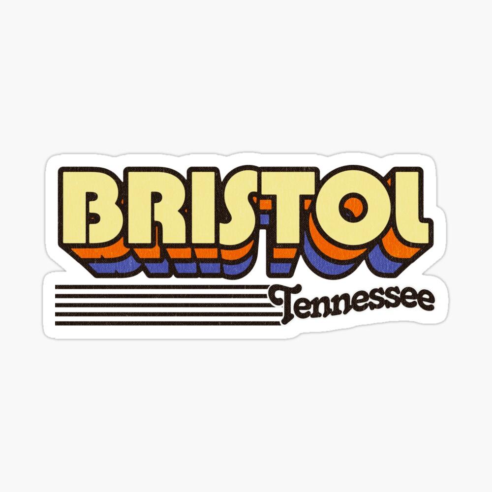 Bristol, Tennessee | Retro Stripes Sticker
