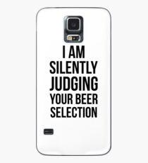 Stillschweigend Ihre Bierauswahl Snob Ipa Craft Joke Tee beurteilen Hülle & Klebefolie für Samsung Galaxy