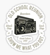 BOOMBOX OLD SCHOOL REUNION Sticker