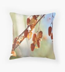 Silver Birch Seeds Throw Pillow