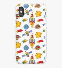 Outer space cartoon doodle pattern iPhone Case