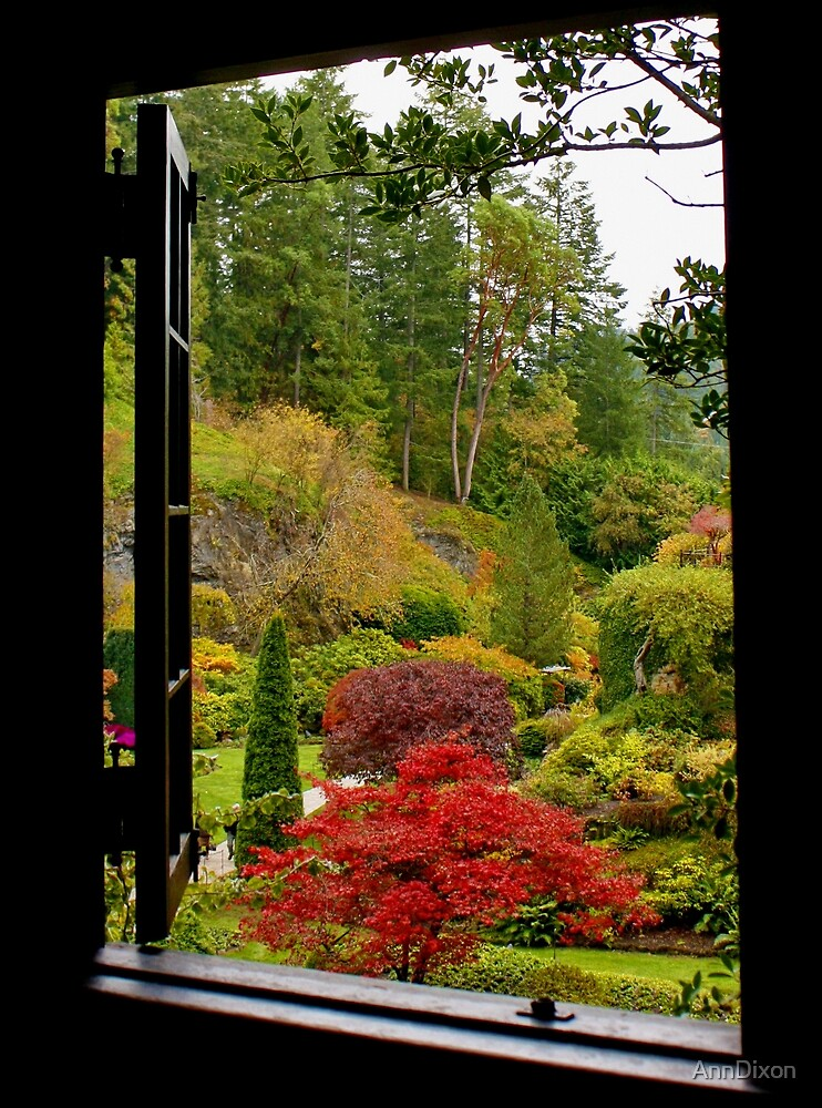 Window on Butchart Gardens by AnnDixon