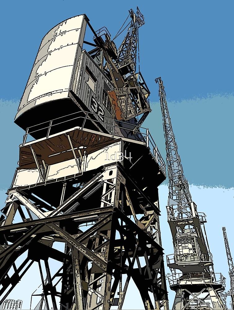 Cranes at Bristol Harbourside by 1d34