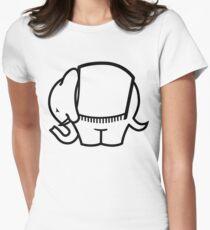 Cagiva Elefant big black Women's Fitted T-Shirt