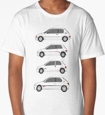 Peugeot 205, 106, 306 Rallye Classic Car Collection Artwork.  Long T-Shirt