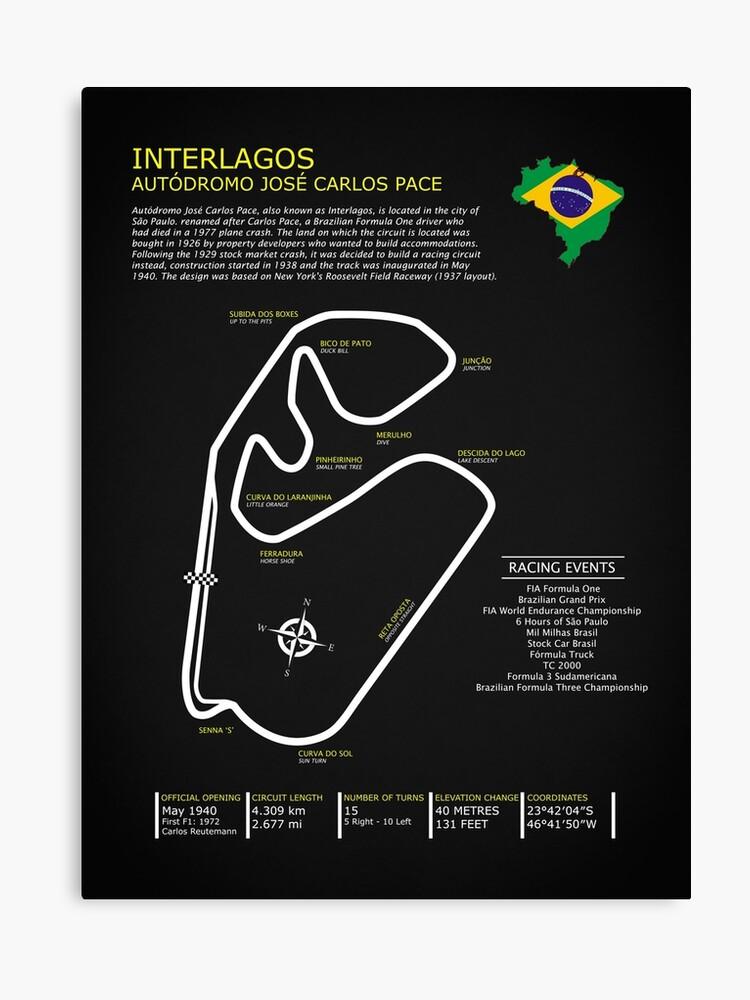 Interlagos Circuit - Autodromo Jose Carlos Pace   Canvas Print