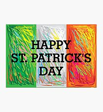 Happy St. Patrick's Day Flag Photographic Print