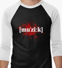 Musik-Splatter Men's Baseball ¾ T-Shirt