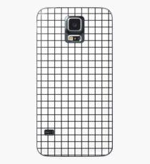 Emmy - Schwarz-Weiß-Grid, schwarz und weiß, Raster, Monochrom, minimal Raster Design Handyhülle Hülle & Skin für Samsung Galaxy