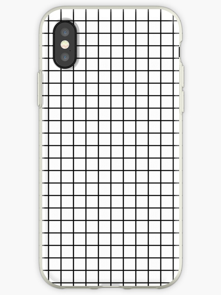 100% authentic bc9ef ccf57 'Emmy -- Black and White Grid, black and white, grid, monochrome, minimal  grid design cell phone case' iPhone Case by charlottewinter