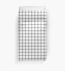 Emmy - Schwarz-Weiß-Grid, schwarz und weiß, Raster, Monochrom, minimal Raster Design Handyhülle Bettbezug