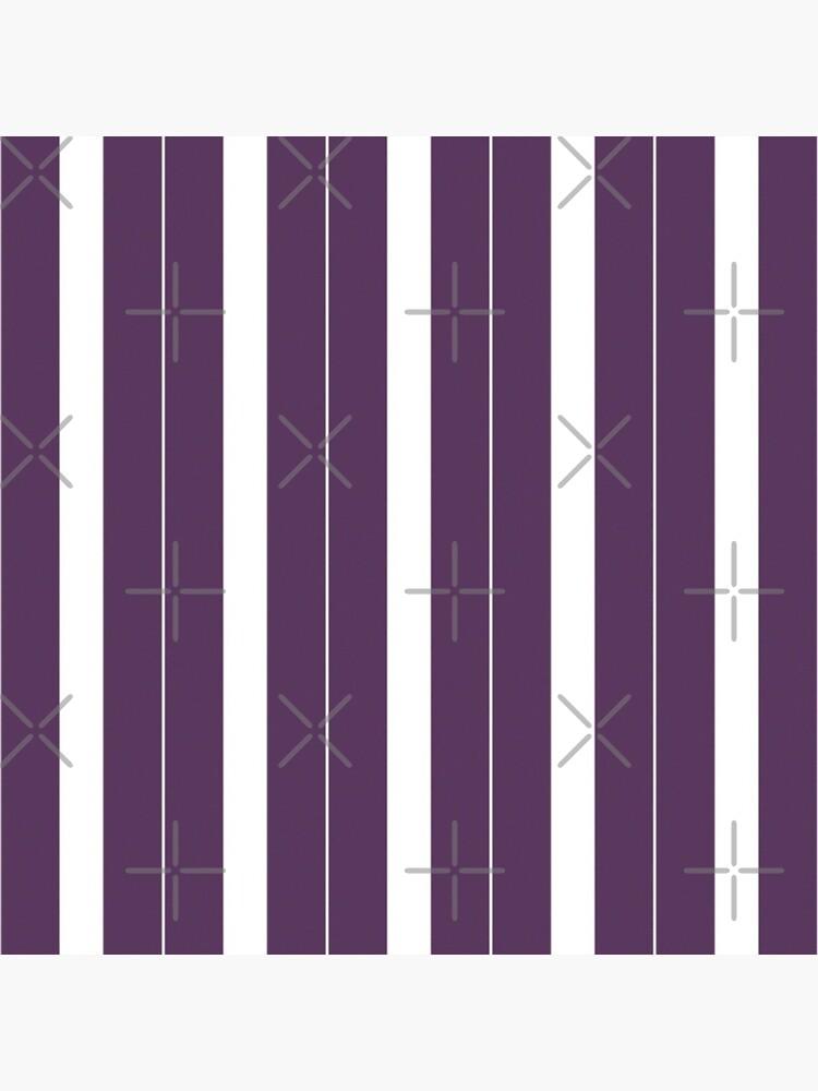 Rayas púrpuras y blancas de BrambleBox