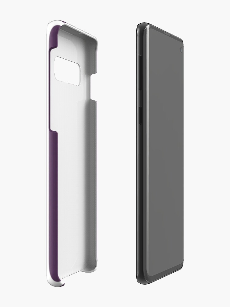 Vista alternativa de Funda y vinilo para Samsung Galaxy Rayas púrpuras y blancas