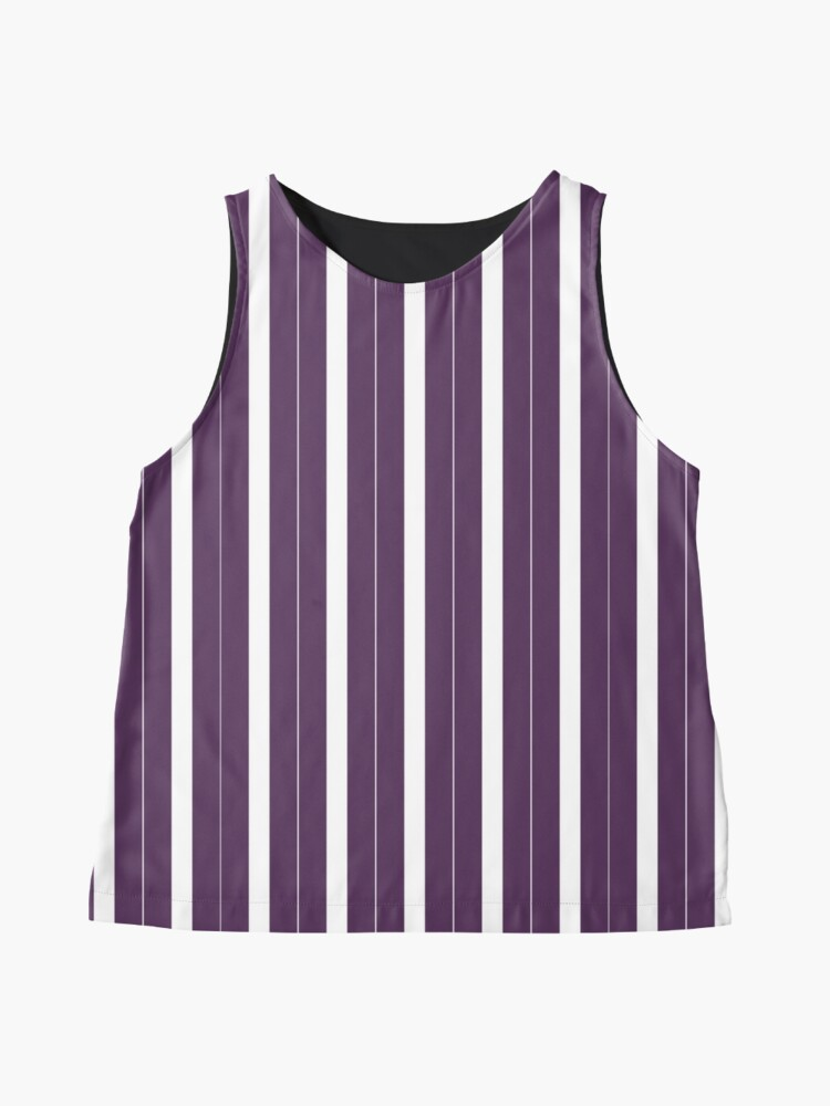 Vista alternativa de Blusa sin mangas Rayas púrpuras y blancas