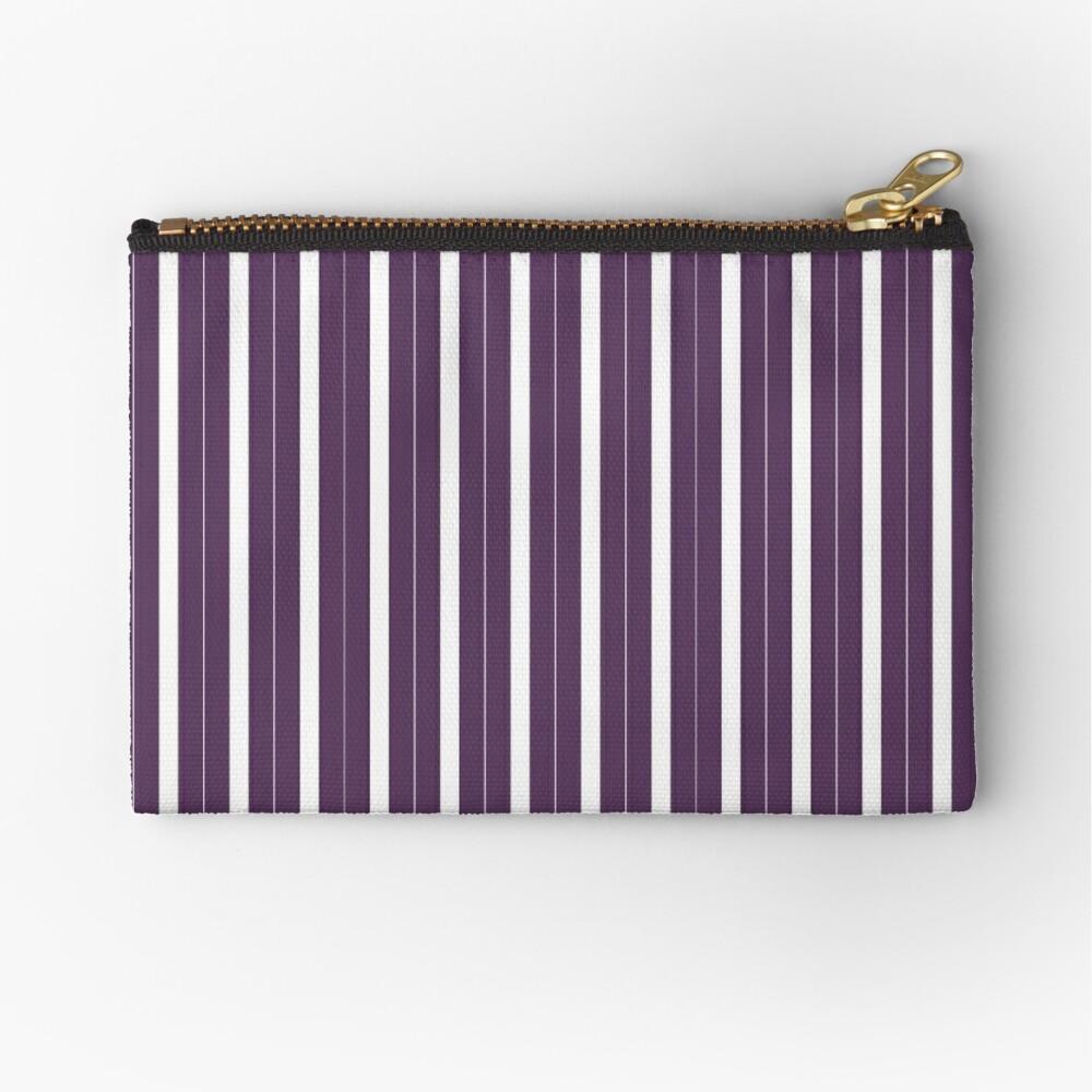 Rayas púrpuras y blancas Bolsos de mano