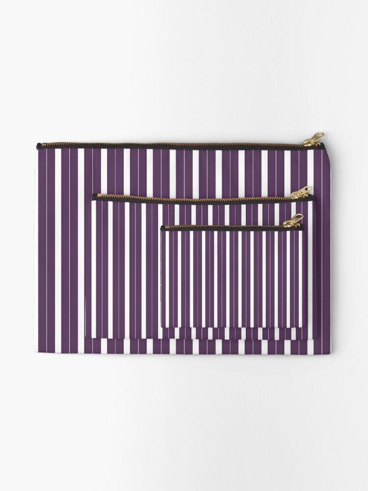 Vista alternativa de Bolsos de mano Rayas púrpuras y blancas