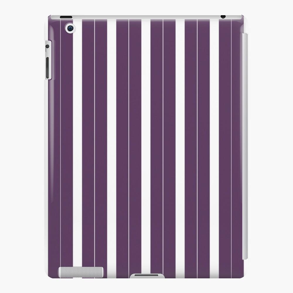 Rayas púrpuras y blancas Funda y vinilo para iPad