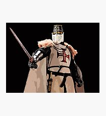 Templar Knight - Red Cross Photographic Print