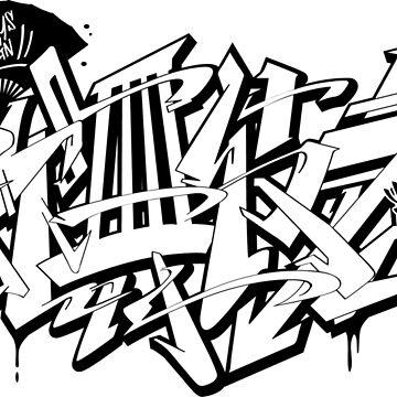Japanese KANJI Graffiti KABUKIMONO by TurkeysDesign